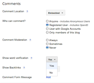 Blogger comment settings tell me either everyone sees CAPTCHA every time, or no one does, ever.