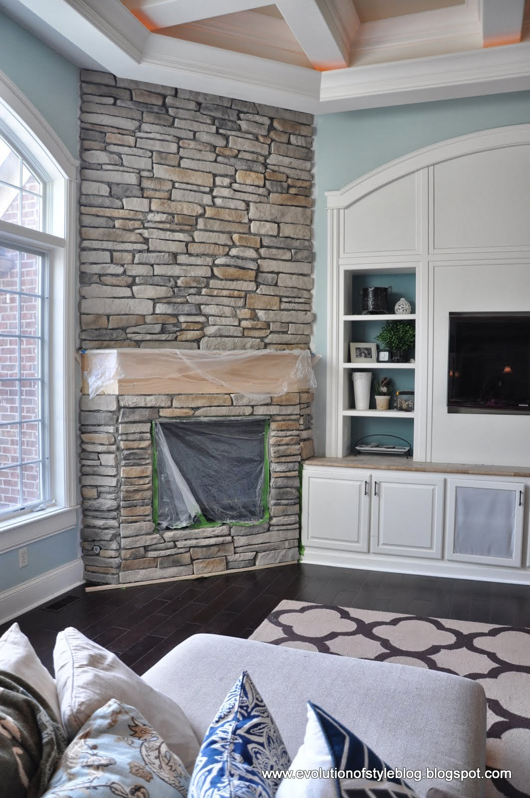 Evolution Of Style A Big Stone Fireplace Update