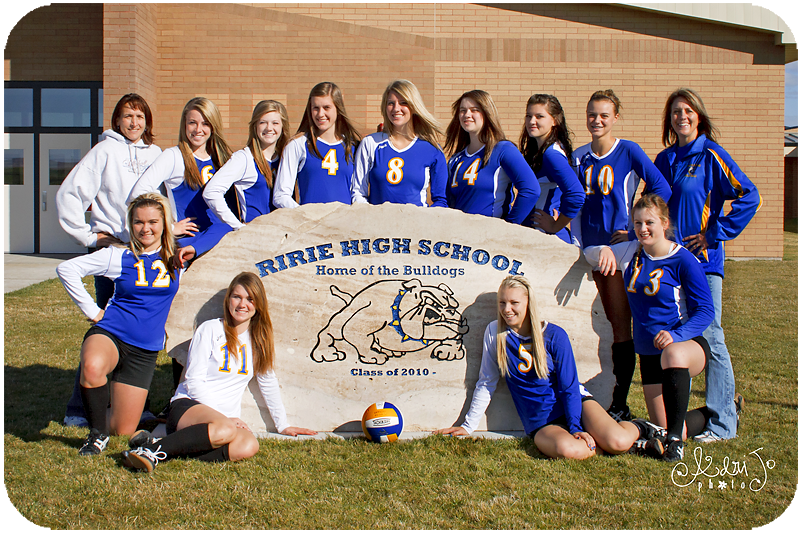 Volleyball Team Pictures - Ririe, ID Photographer