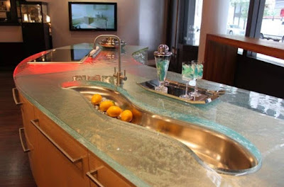 Amazing And Unique River Sink for Awesome Kitchen