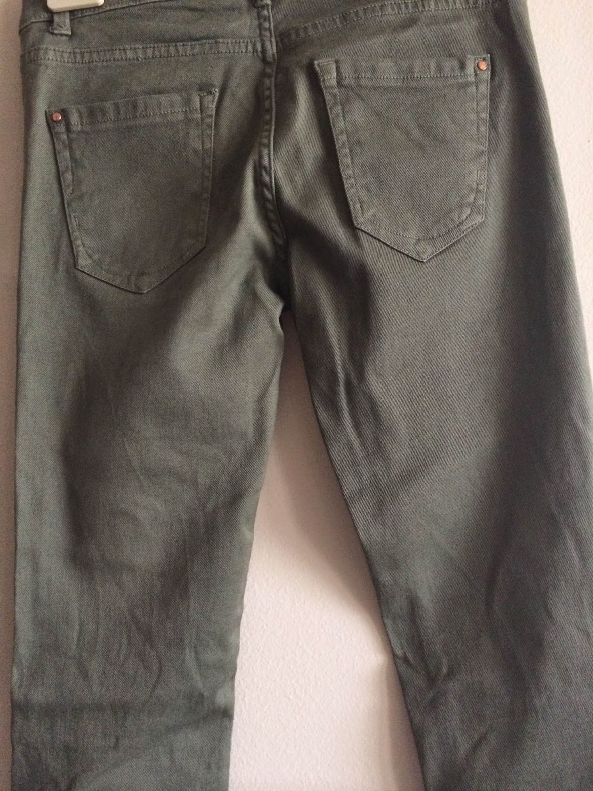 Calças Skinny verde ZARA