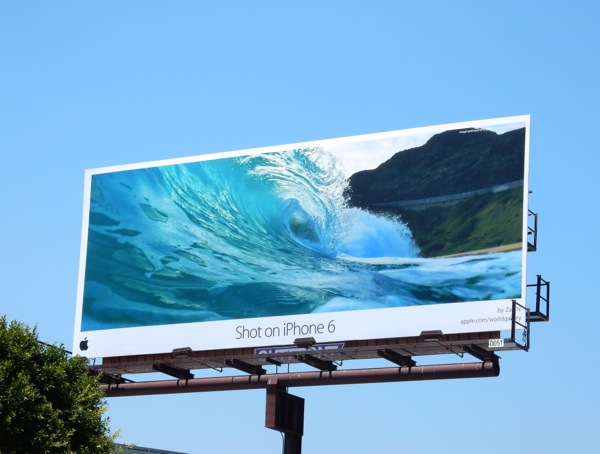 Shot on iPhone 6 cresting wave billboard June 2015