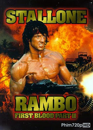 Rambo: First Blood 2 1985 movie poster