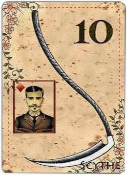 carta de lenormand 10 guadaña
