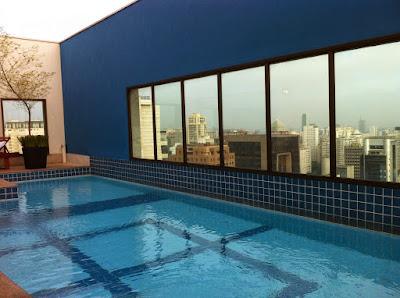 Vistas de Sao Paulo desde la terraza del hotel