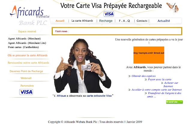 Ceci est (probablement) une autre copie du site web d'Africards SA, A Unix Mind In A Windows World