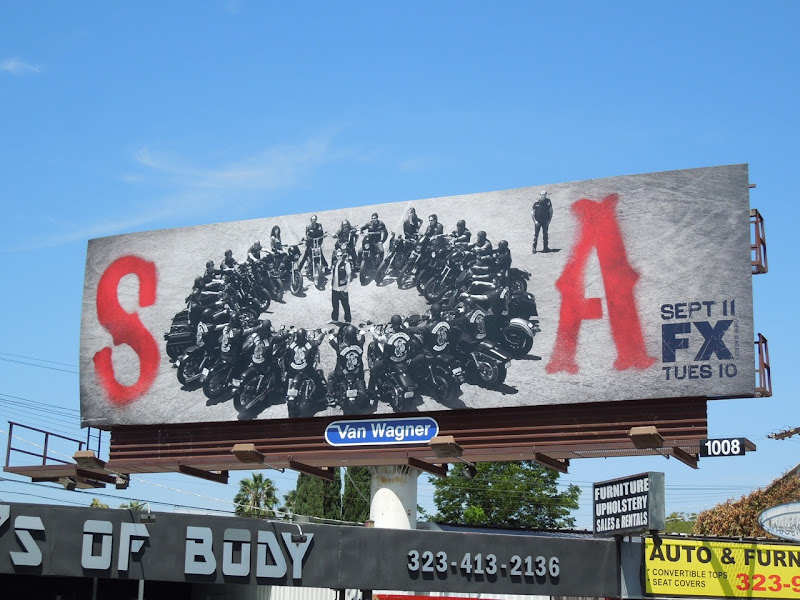 Sons of Anarchy season 5 FX billboard