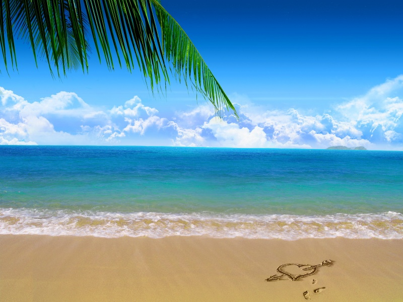 wallpapers nature beach. Beach Love Nature Wallpaper