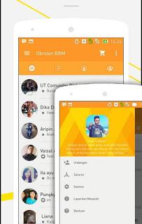 BBM TALK Simple Orange Versi 2.9.0.51 Apk