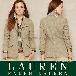 Crown princess Style RALPH LAUREN Lambswool-Blend Tweed Jacket