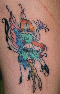 Fantasy Girl Fairy Angel Tattoo Design