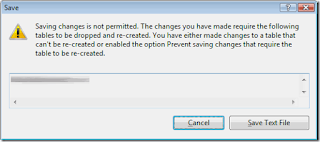 Saving changes is not permitted.