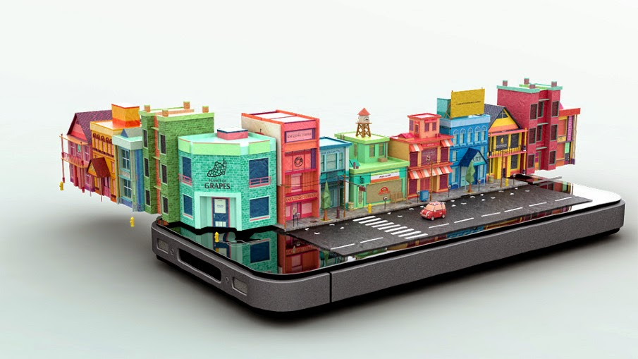 04-Apple-Phone-Mike-Ko-iPhone-Diorama-3D-Images-Hologram-www-designstack-co