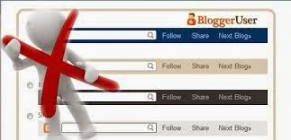 Remove navbar from blogger blog