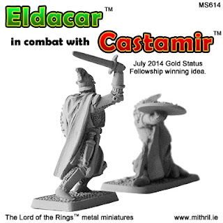 Eldacar in combat with Castamir
