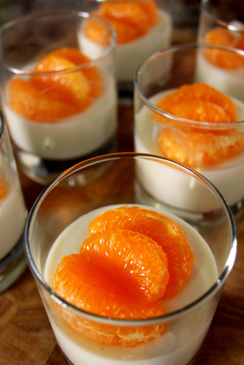 Panna Cotta Mandarin Oranges Recipe