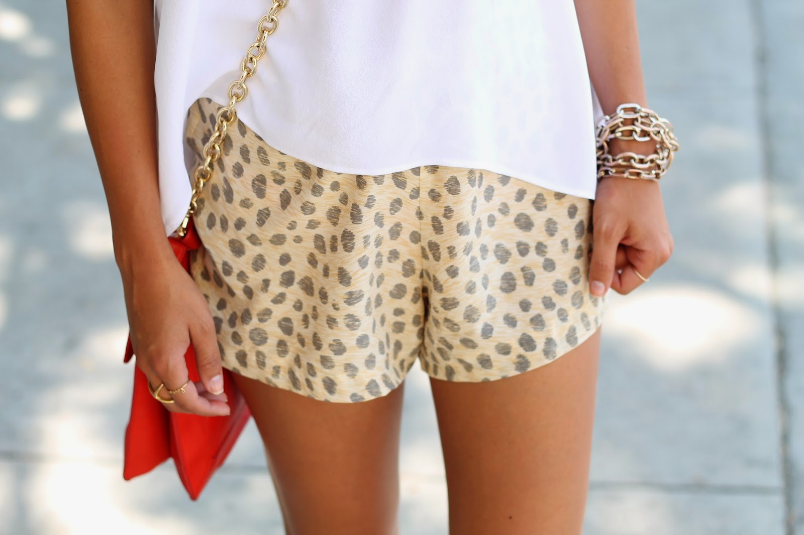 equipment leopard shorts