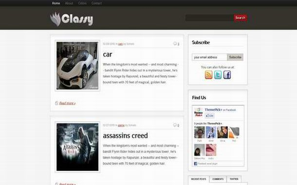Free Chrome Videos Movies Blogger Theme Template