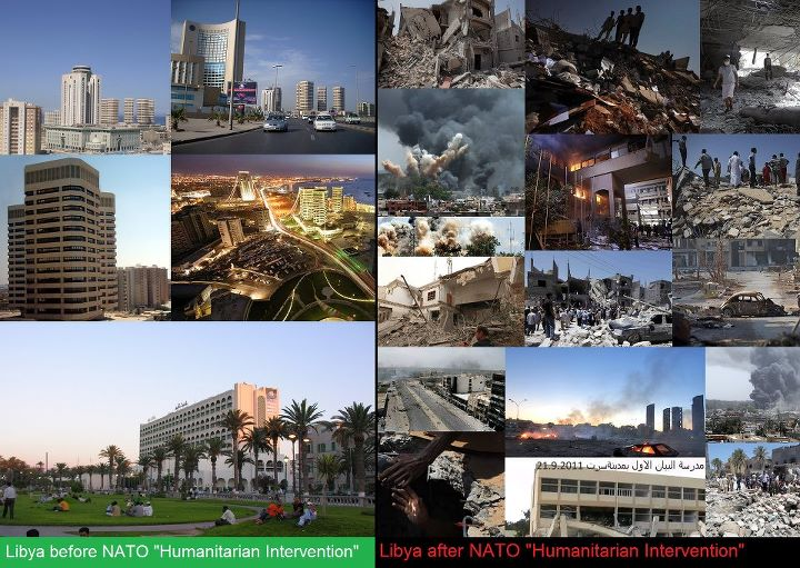 The destruction of Libya