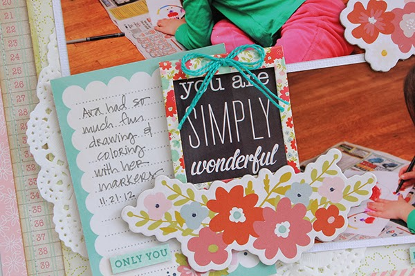 You Are Simply Wonderful layout by Juliana Michaels detail