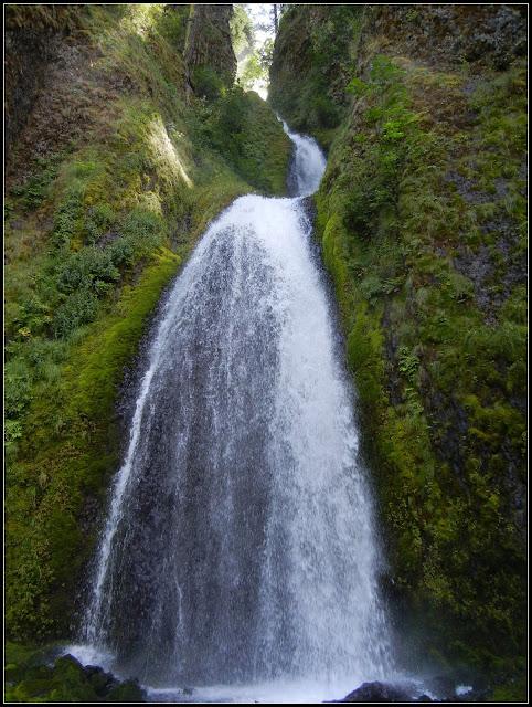 Wahkeena Falls on the Columbia River in Oregon