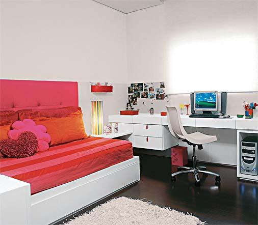 Casinha Bonitinha 15 quartos de menina tudo  ~ Como Fazer Uma Mesa De Estudo Para Quarto