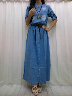 Gamis Jeans fit to L