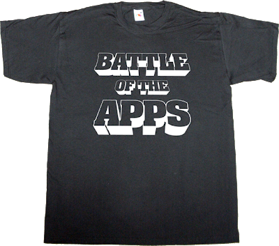 apple google rim nokia microsoft mobile company t-shirt ephemeral-t-shirts