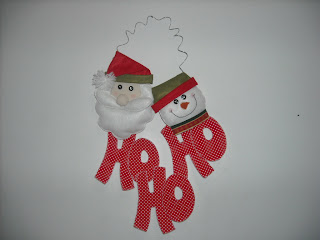 guirlana+ de+ natal+ho+ ho+ ho+ papai+ noel+e +boneco+ da+ neve