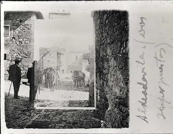 M. de Unamuno en la Corredera de Aldeadávila, mayo 1902