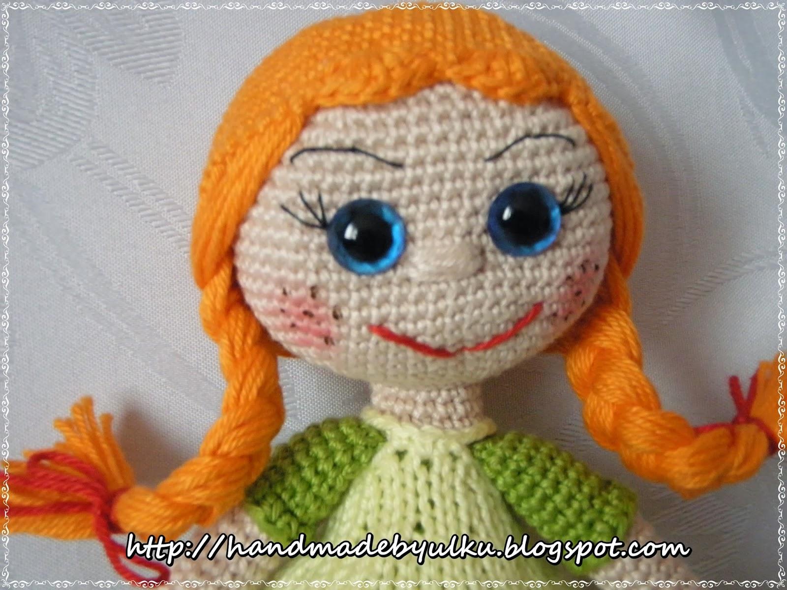 Handmade by Ülkü: Amigurumi Häkelanleitung Pippi / Pattern Pippi Doll