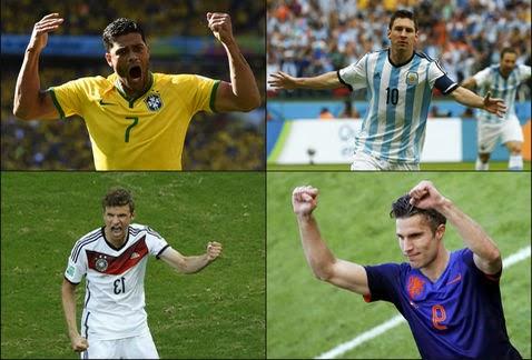 Así quedaron las Semifinales Brasil 2014