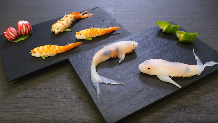 08-Rachel-and-Jun-JunsKitchen-Food-Art-Koi-Fish-Sushi-www-designstack-co