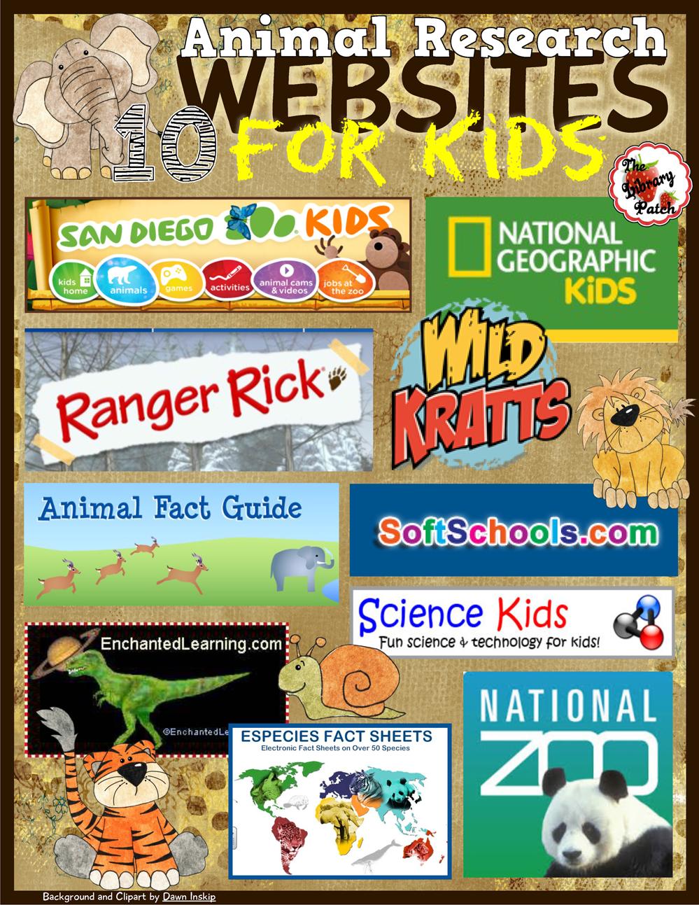 https://www.teacherspayteachers.com/Product/Animal-Research-Websites-for-Kids-1641256