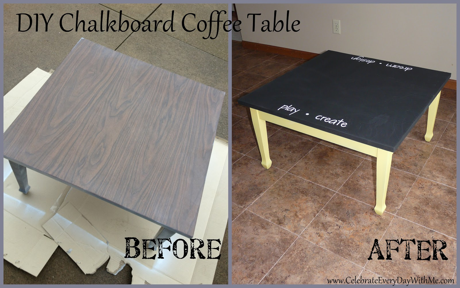 create a chalkboard table | celebrate every day with me