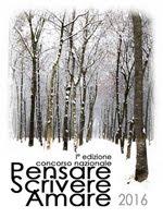 Plaquette del concorso Pensare Scrivere Amare