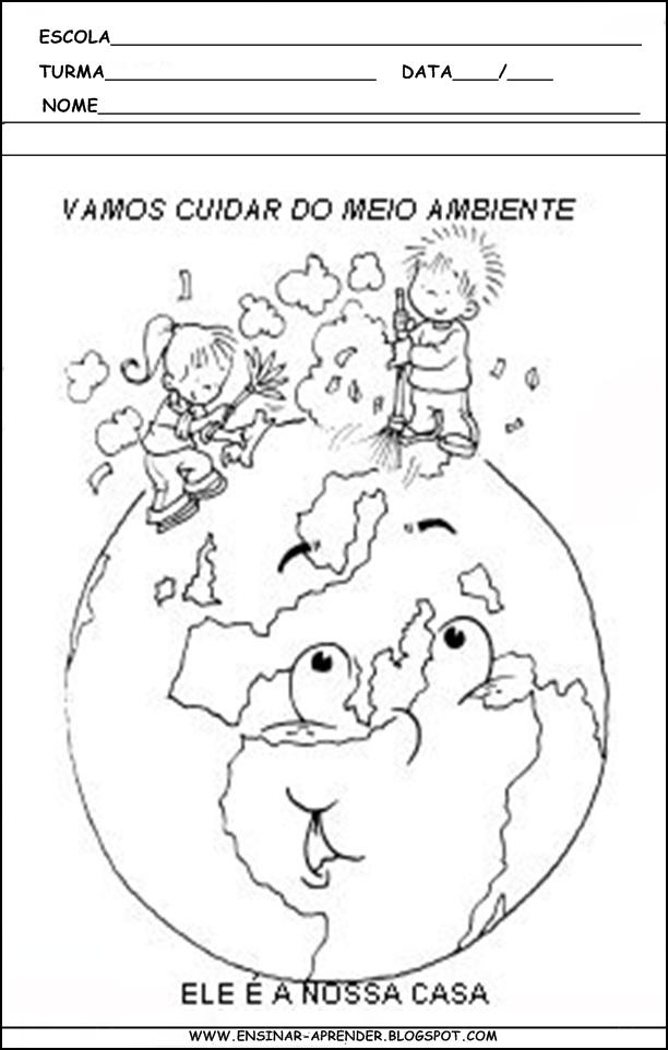 Atividades sobre o meio ambiente cantinho do educador for Mural sobre o meio ambiente