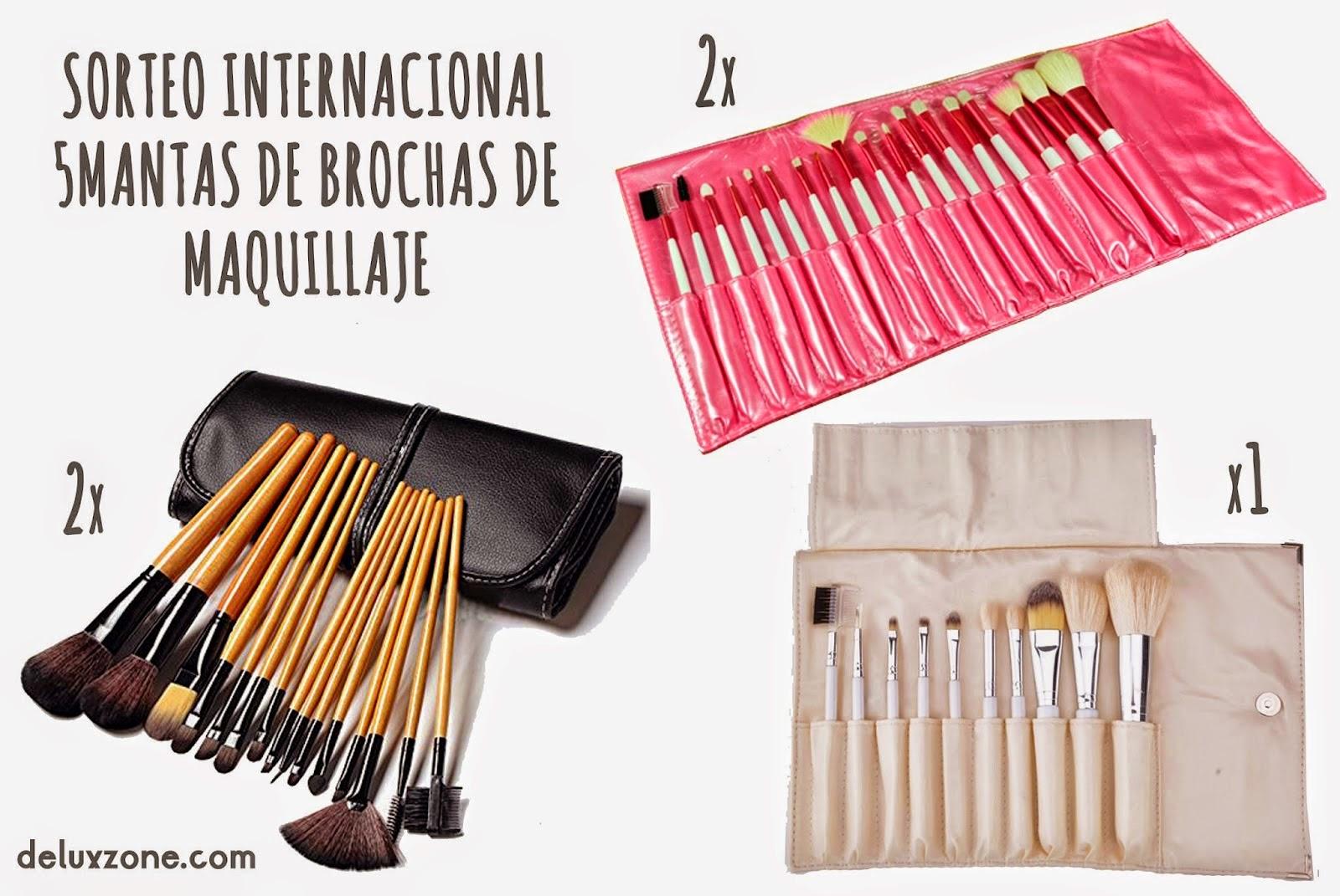 sorteo internacional 5 mantas brochas de maquillaje