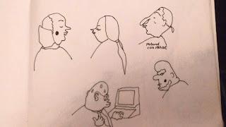 Zeichnungen zum letzten Urlaubstag