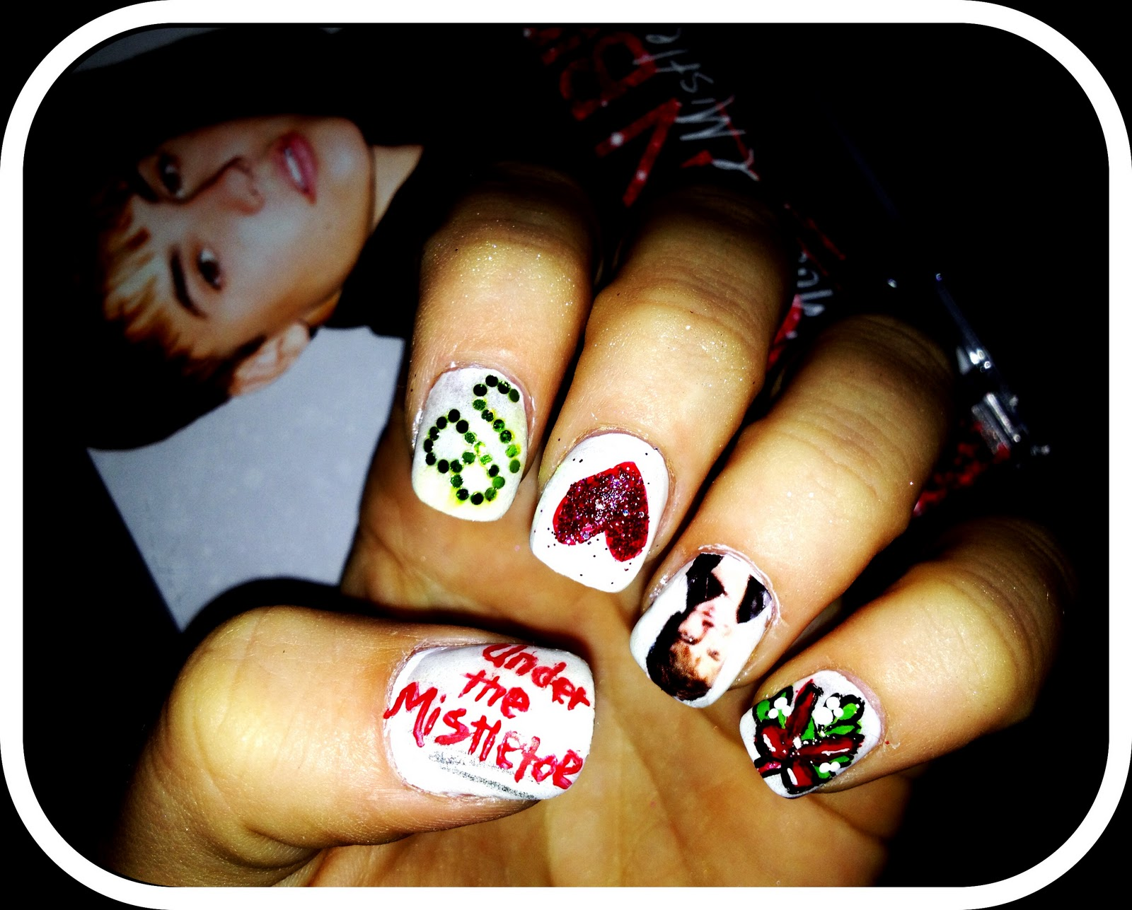 Nailed Daily: Day 10 - Under the Mistletoe Justin Bieber Nails