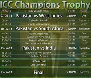 ICC Champions Trophy 2013 Schedule Picture Wallpapers