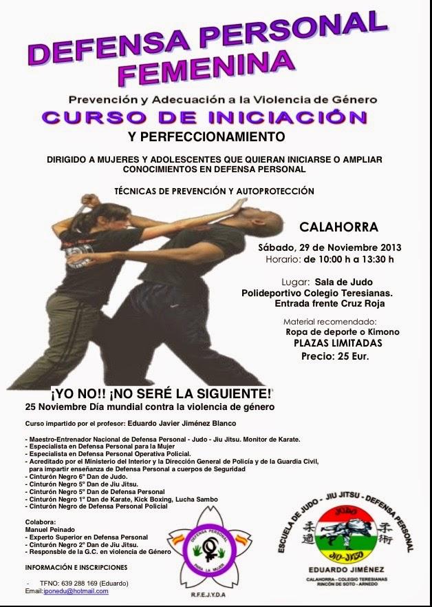 CURSO DEFENSA PERSONAL PARA LA MUJER Y ADOLESCENTES