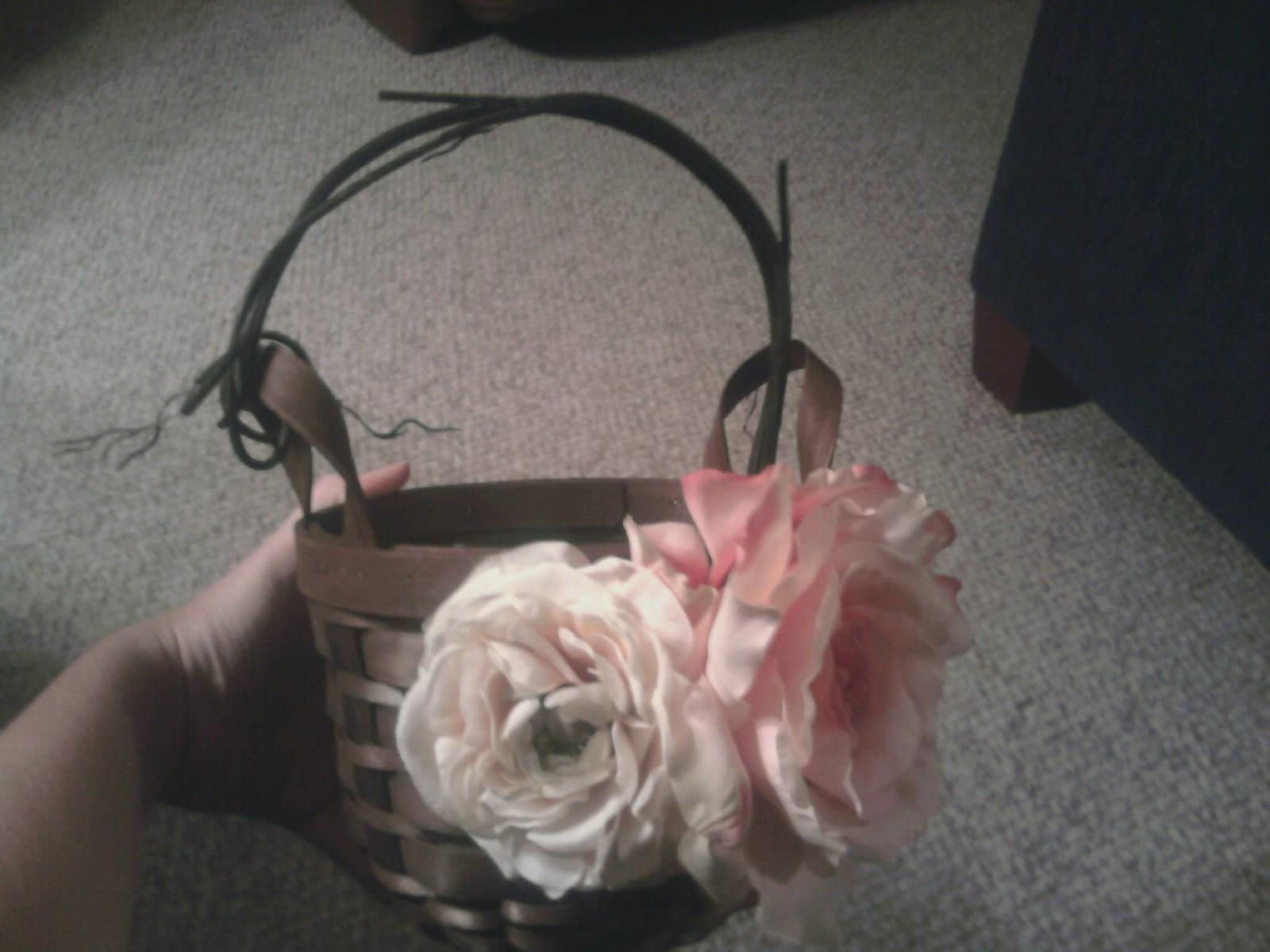Burlap Flower Girl Basket Hobby Lobby : Blushing and ging july