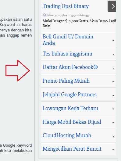 contoh iklan teks google adsense di blog