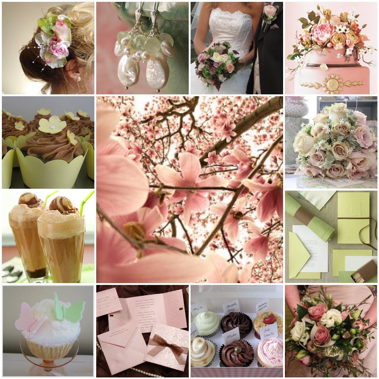 David and Sanna\'s Wedding: Dusky Pink, Mocha and Green