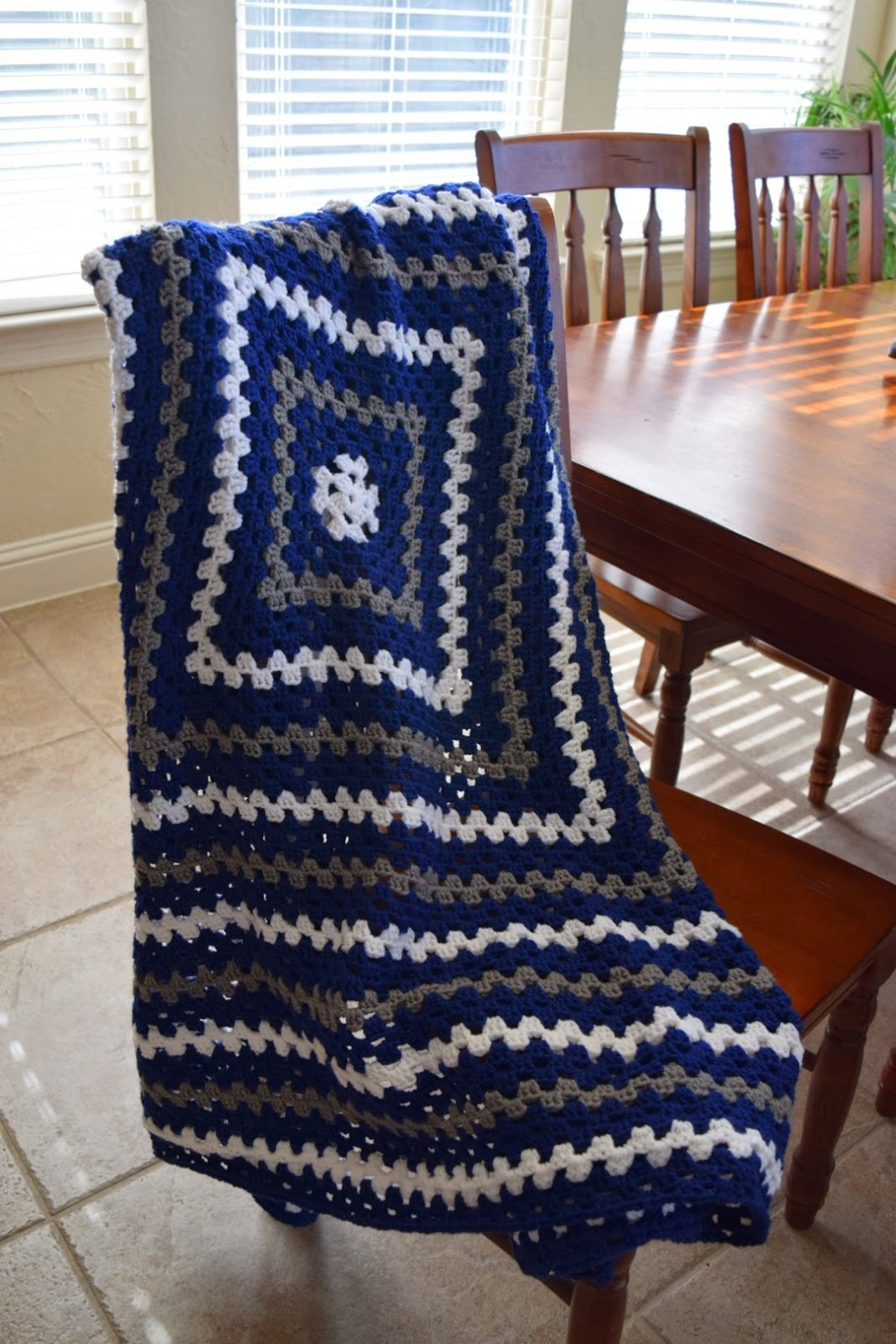 All Things Chateau de Savoy: Crochet Granny Square Lap Blanket in ...