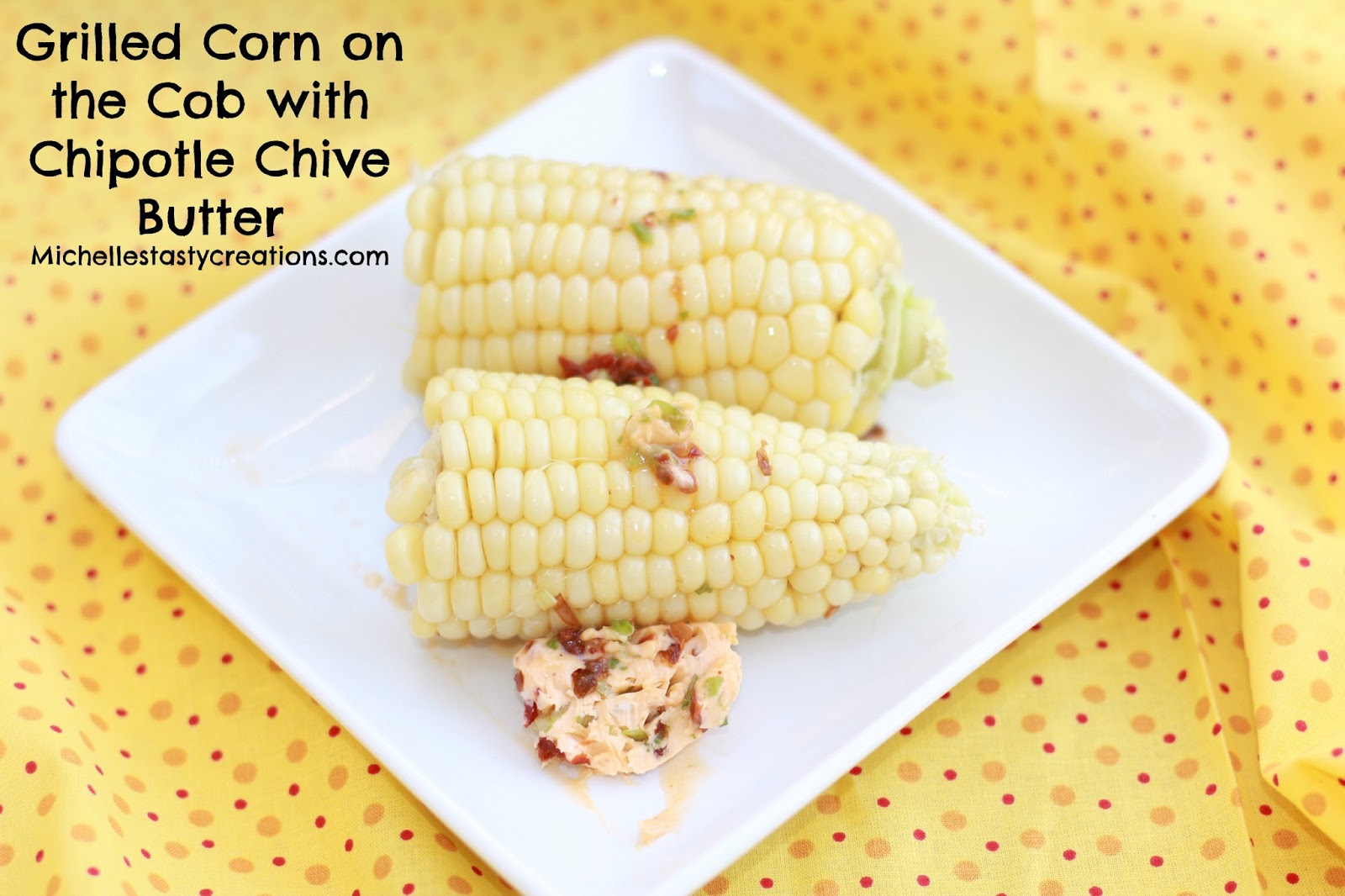 Corn On The Cob With Lime-Chive Butter Recipe — Dishmaps