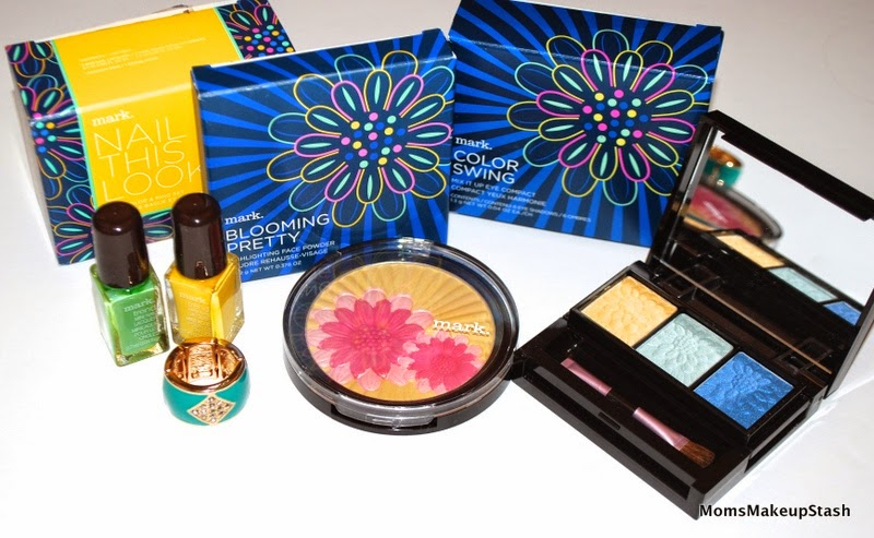 mark cosmetics review, mark Spring 2014, Blooming Pretty, Blooming Pretty Highlighting Face Powder, Nail This Look, Color Swing Mix it Up Eye Compact