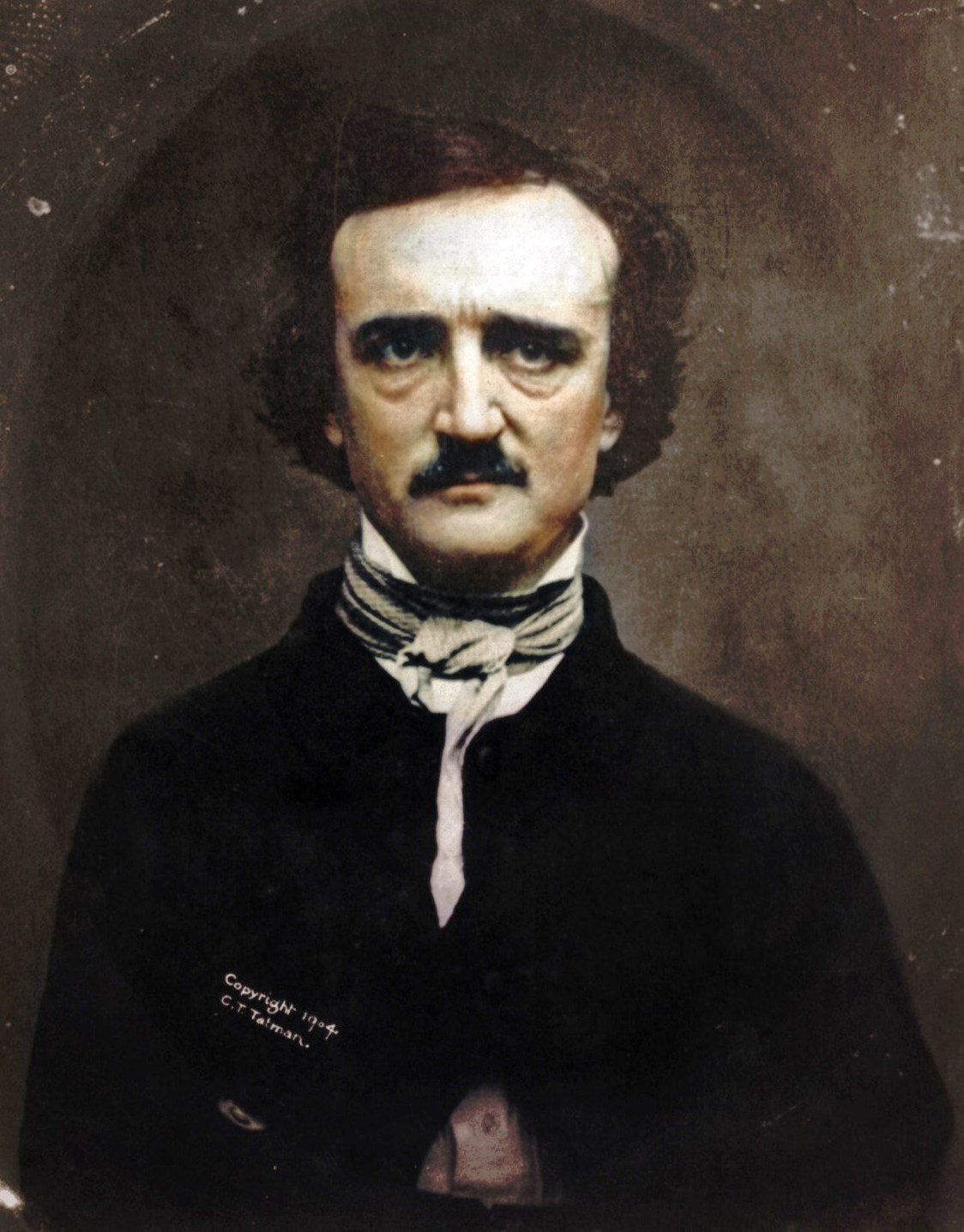Colorized Photo Of Edgar Allan Poe on oscar e brown inventor