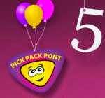 Nyereménjáték az ötéves Pick Pack Ponttal!
